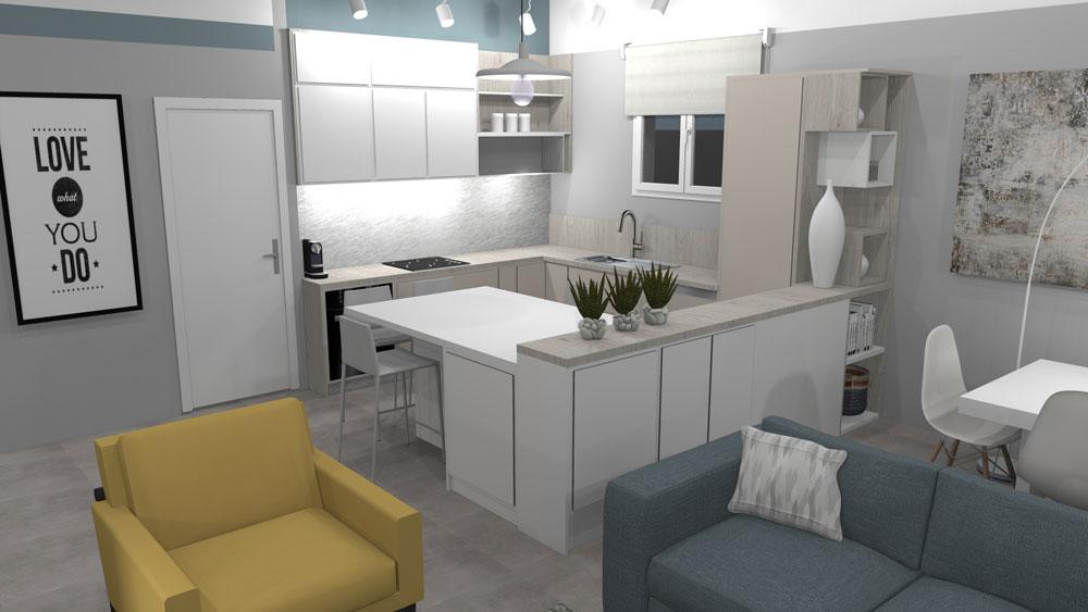 L'agencement et la décoration d'une pièce à vivre avec cuisine ouverte