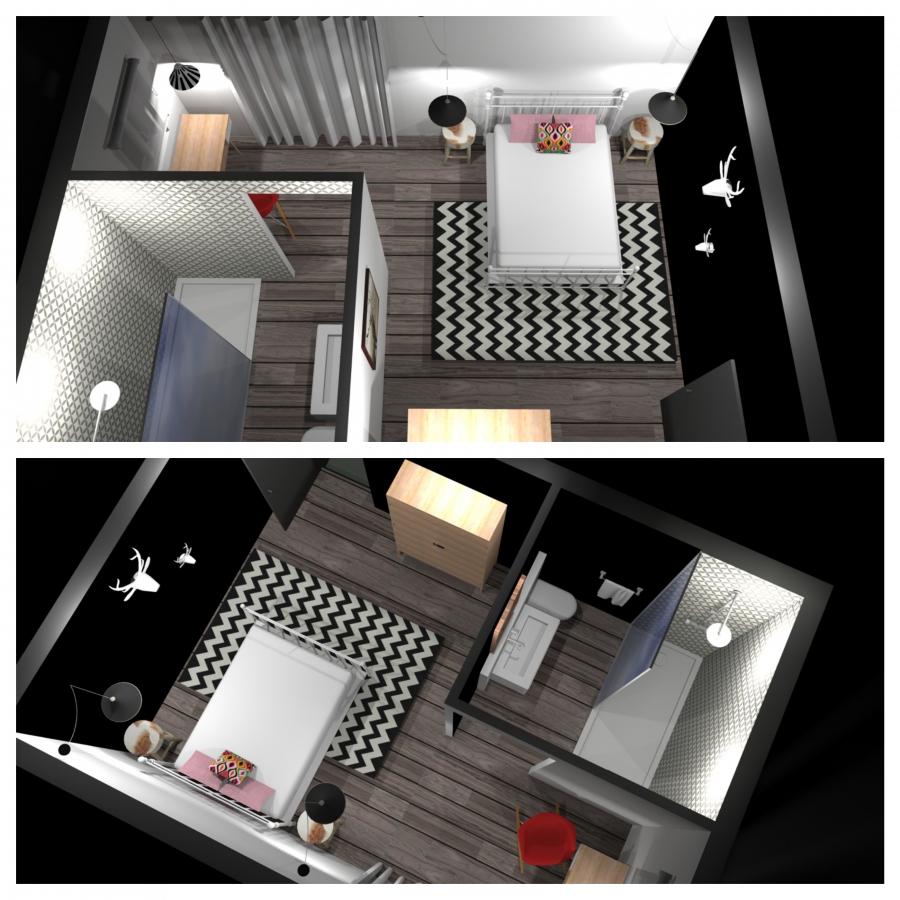 Création et décoration de deux chambres d'hôtes